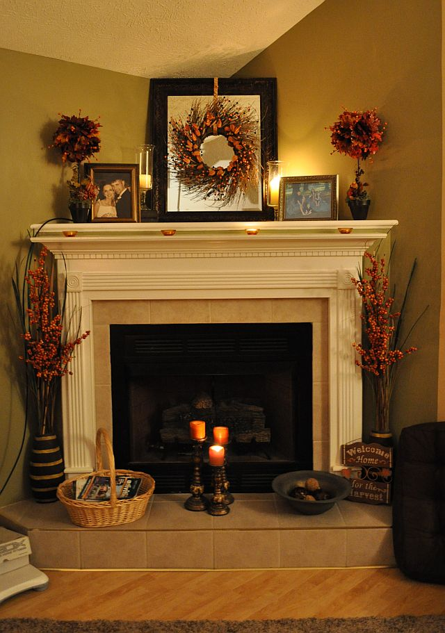 Fall Fireplace Mantel Decorating Ideas 640 x 911
