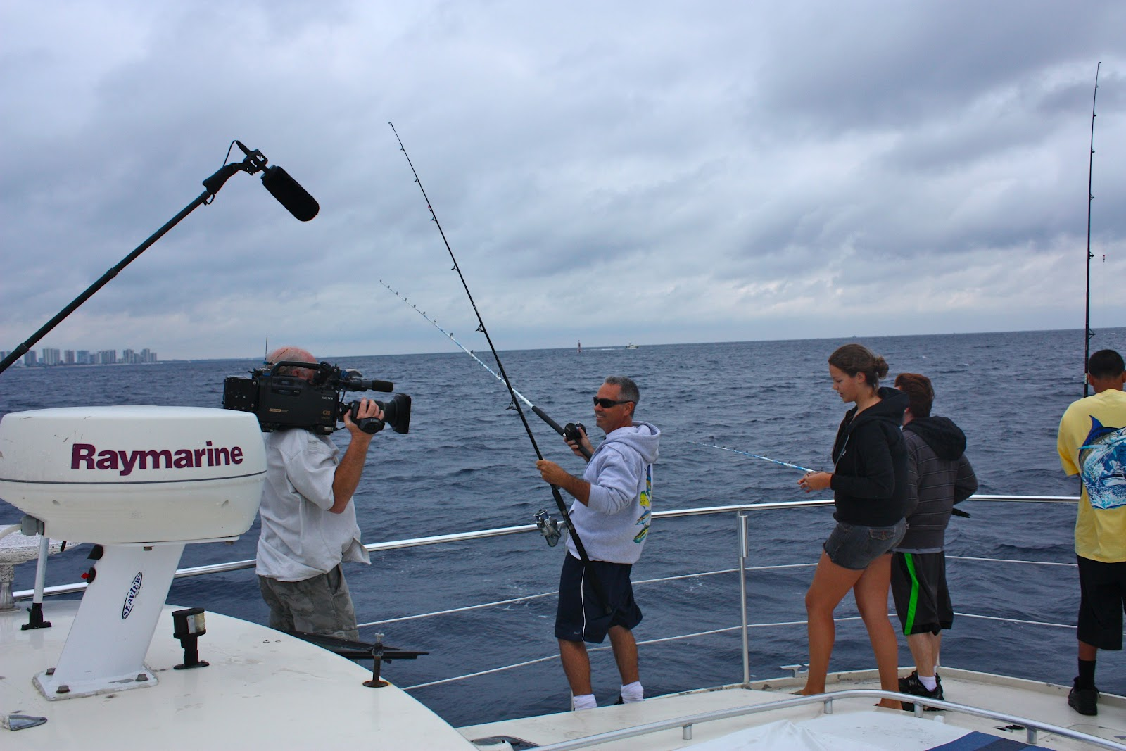 Florida fishing academy nbc filming and saturday fishing for Academy fishing poles