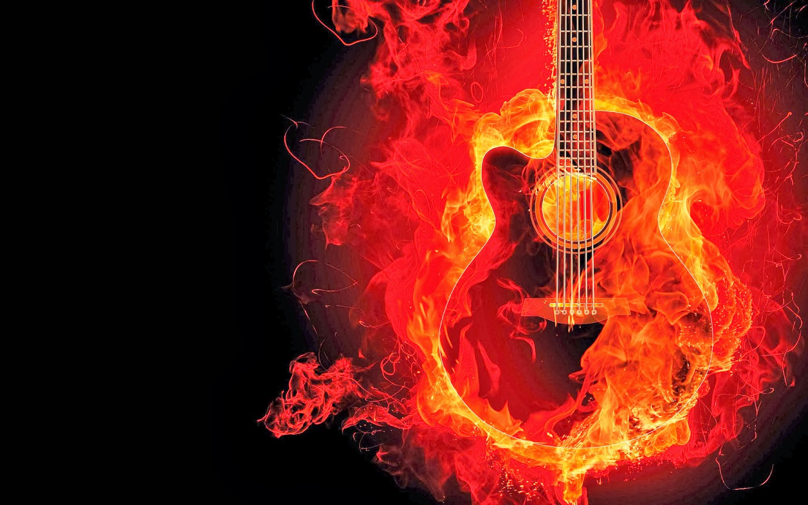 guitar on fire wallpapers - photo #12