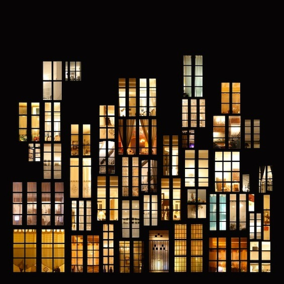 Sences of intimacy windows at night collage 1 design for Anne laure maison