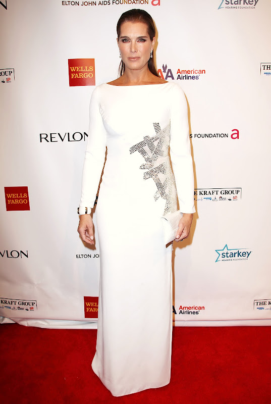Brooke Shields at Elton John AIDS Foundation 2012