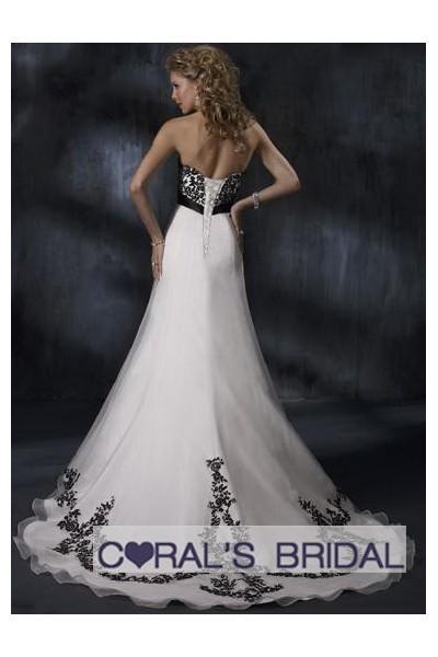 Wedding Dresses Design With Black Corset - Wedding Dress