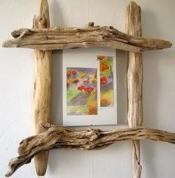 Cr ations en bois flott arda d co - Faire un cadre en bois flotte ...