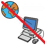 simbolo del PC connesso con una sbarra rossa sopra