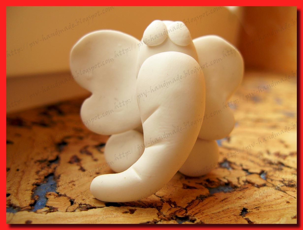 Слон из полимерной глины