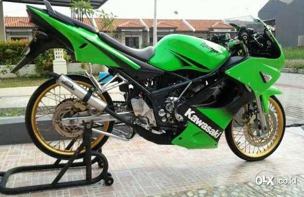 referensi modifikasi motor ninja rr hijau