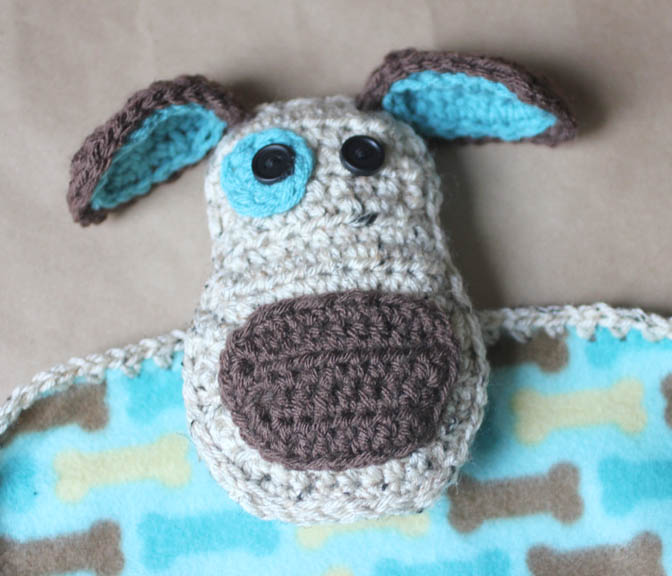 Free Crochet Pattern Pet Blanket : Puppy Dog Lovey Blanket Crochet Pattern - Repeat Crafter Me