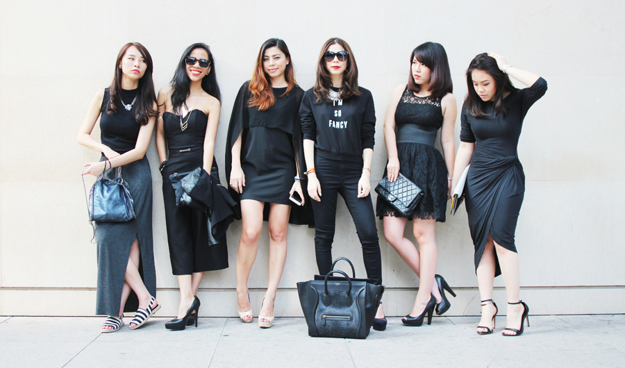 Black Dress for High Tea