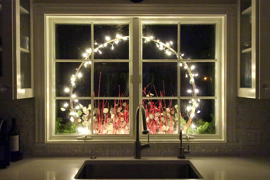 Holiday window box from inside -- The Impatient Gardener