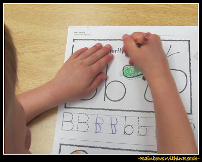 photo of: Fine Motor Work on Work Sheet