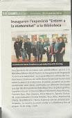Noticia en el diario de Rubí