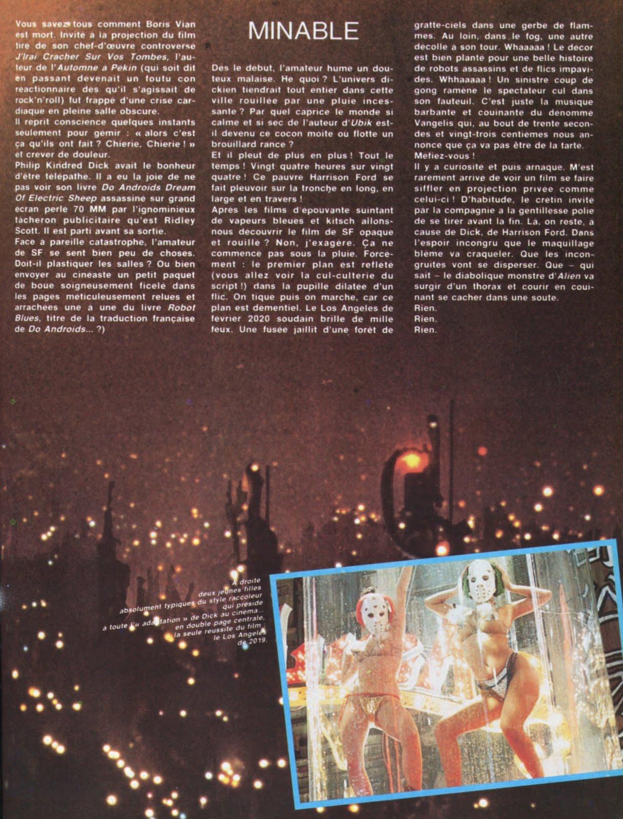 METAL HURLANT (Sept 1982) Blade Runner LA+SECONDE+MORT+PHILIP+K.+DICK+2
