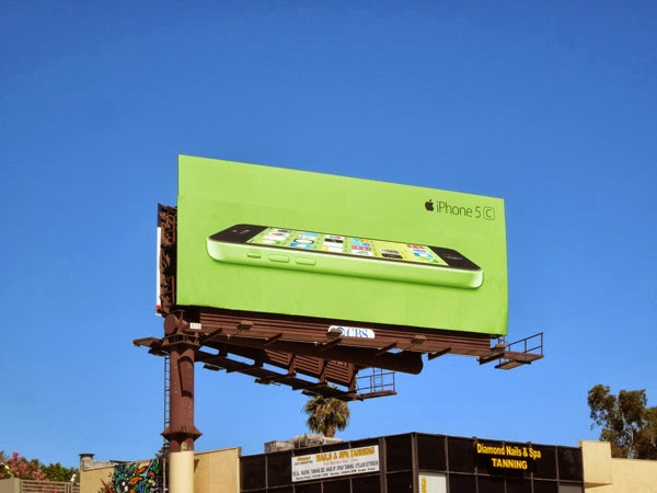 Green iPhone 5c billboard