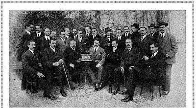 Participantes y organizadores del Campeonato de Ajedrez de Barcelona 1914