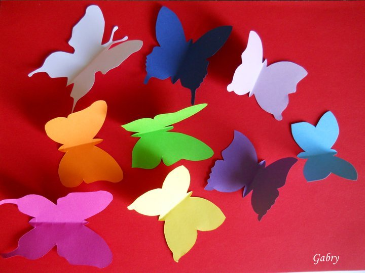 In Pigiama Decorare Una Parete Con Le Farfalle Decorating With