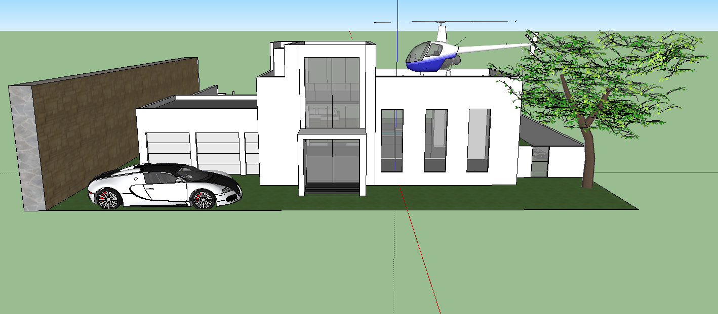 100 sketchup create modern house in build a modern for Modern house sketchup