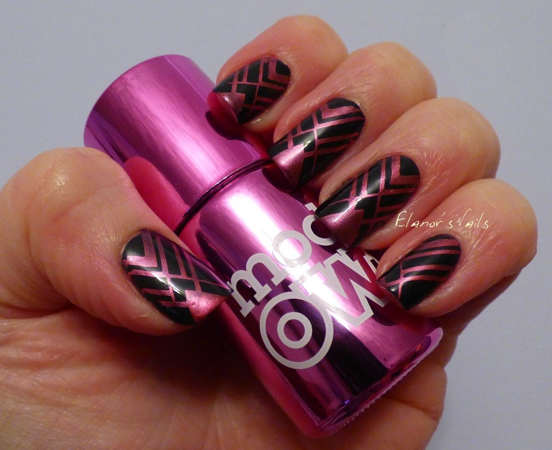 Elanor\'s Nails: Models Own Chrome Stamping!