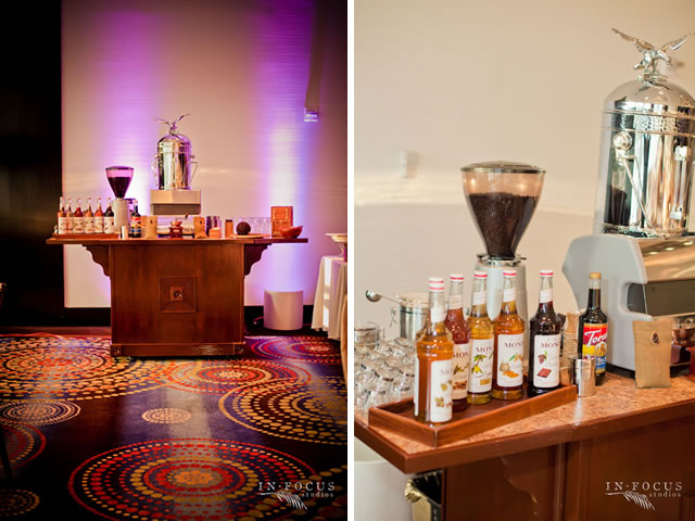 The bridal solution tbs inspiration coffee bars at for Coffee bar at wedding reception