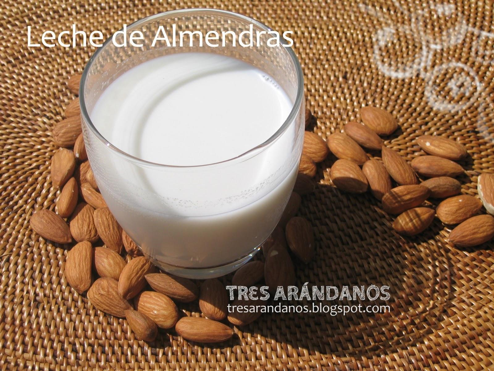 Receta de leche de almendras