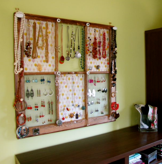 Window Frame Jewelry Holder