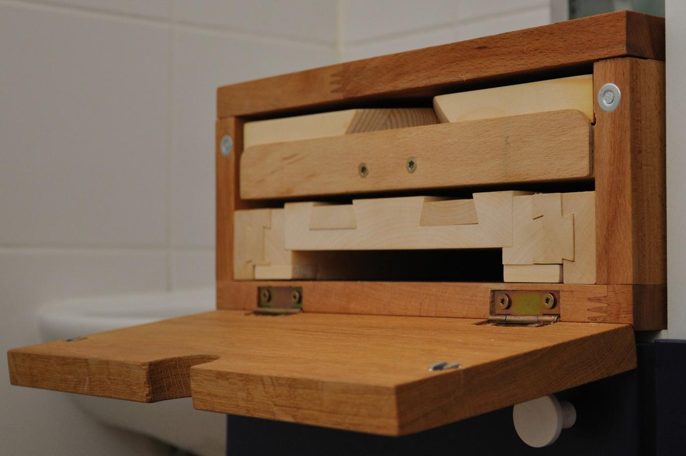 holz notizen lesest tze ausziehbar. Black Bedroom Furniture Sets. Home Design Ideas