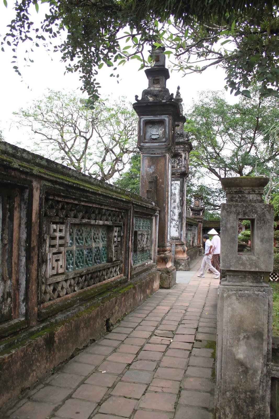 Unique design structure around King Dinh Temple at Hoa Lu capital in Vietnam