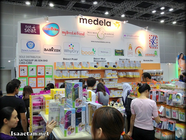 Another popular stop for breastfeeding mothers, Medela