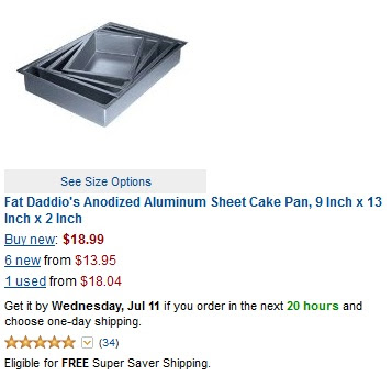 Aluminum baking pans