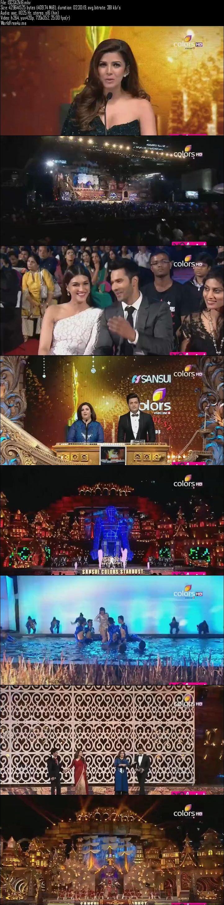 Screenshots Of Stardust Awards 2016 Full Show Watch Online Dailymotion HDTVRip 480P 400MB