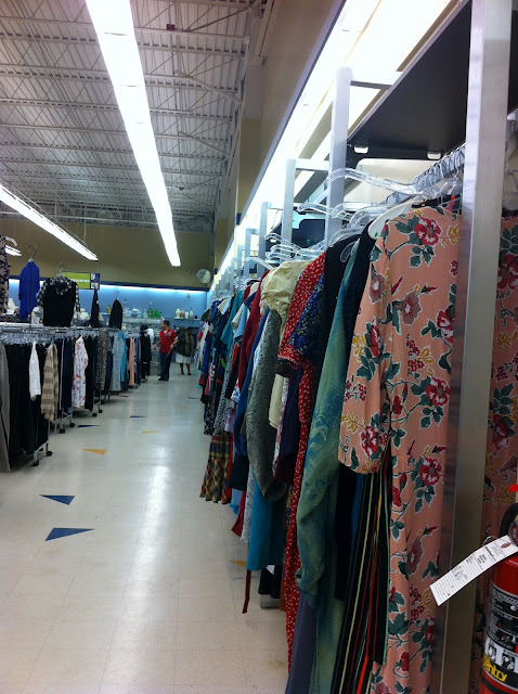 Dresses at Goodwill Thrift Store