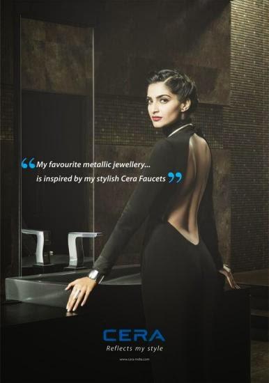Sonam Kapoor's print ad for Cera