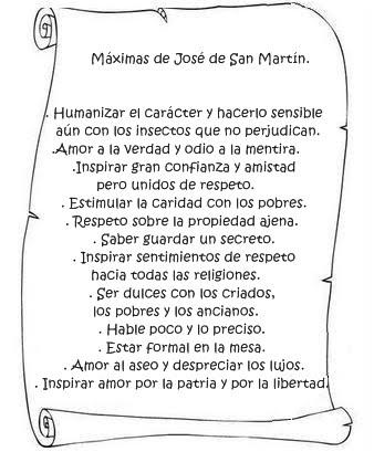 Maximas de José de San Martín para su hija Merceditas. | RECREAR ...