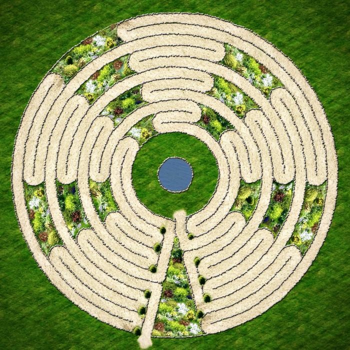 Cheap gardening ideas a collection of photos for Garden labyrinth designs