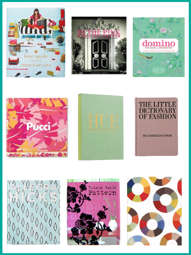 coffee table books for the fashionista/decorista - cozy•stylish•chic
