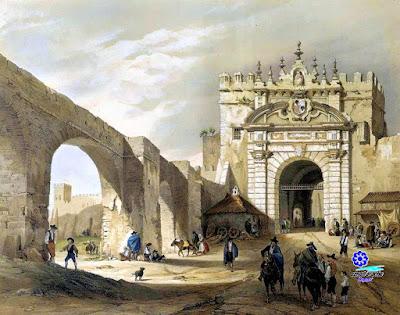02 Sevilla - Puerta de Carmona (hacia 1840) - Genaro Perez de Villaamil - Paris 1842