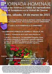 Homenaje a las víctimas del franquismo en Cáceres