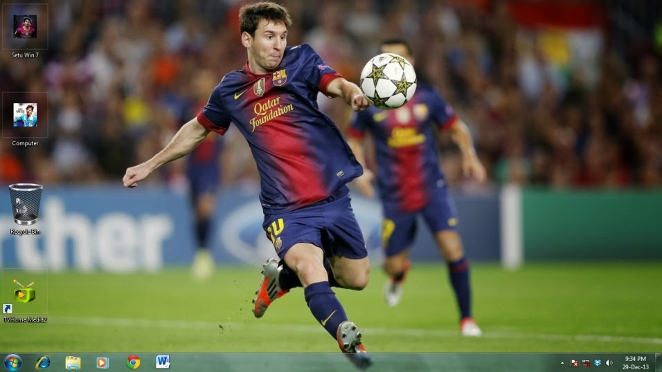 Lionel Messi Theme for Windows 7