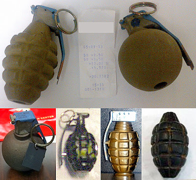 Grenades Discovered at (L-R) GPT, HNL, SLC, SYR, TPA