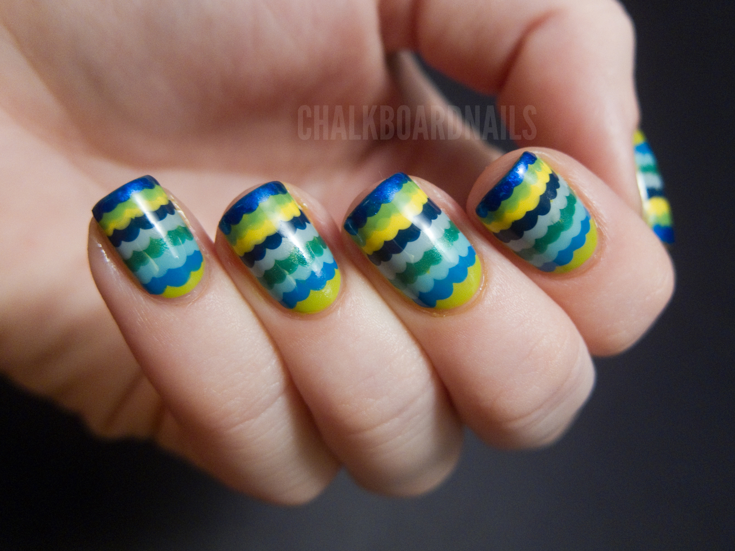 Ruffle Manicure Tutorial | Chalkboard Nails | Nail Art Blog