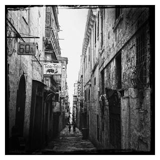 Strait Street in Valletta, Malta