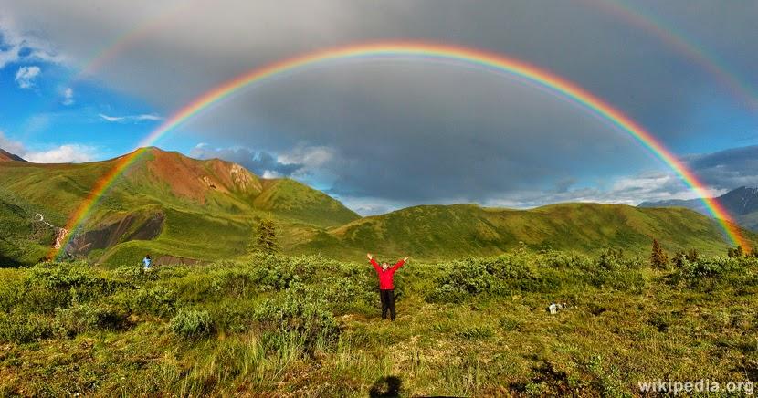 Double rainbow across earth, brat baboon dot com