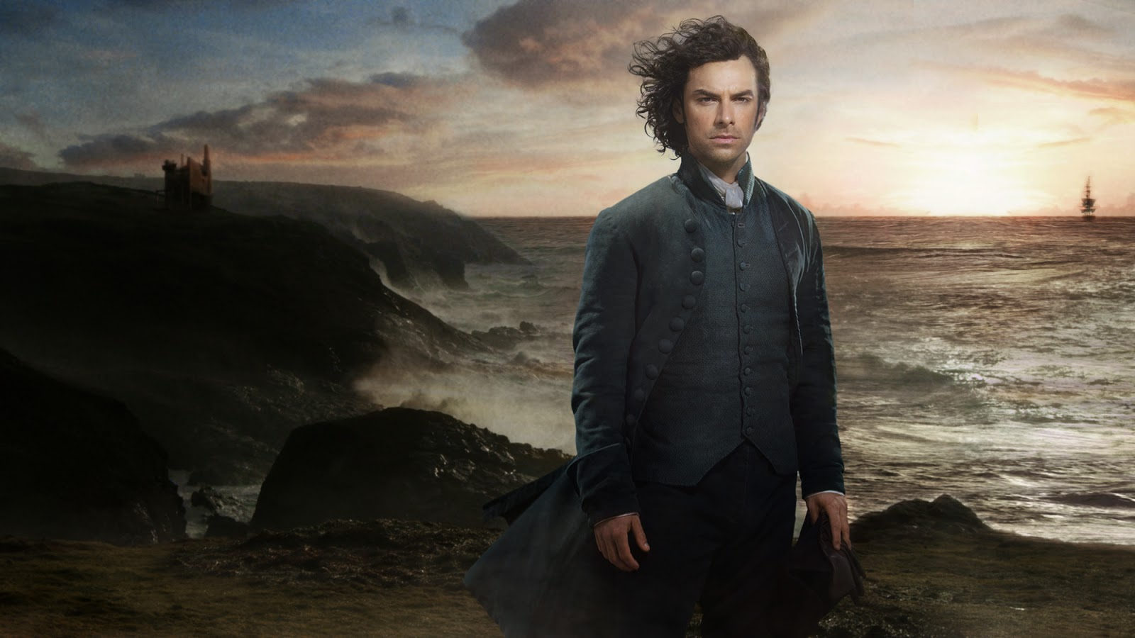 Aidan Turner as Ross Poldark in the BBC series