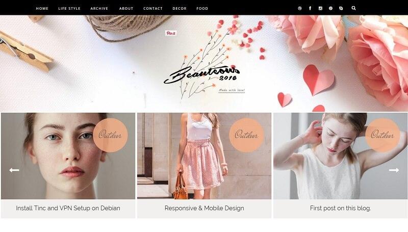 Download - Beauteous Carousel - Responsive Blogger Template