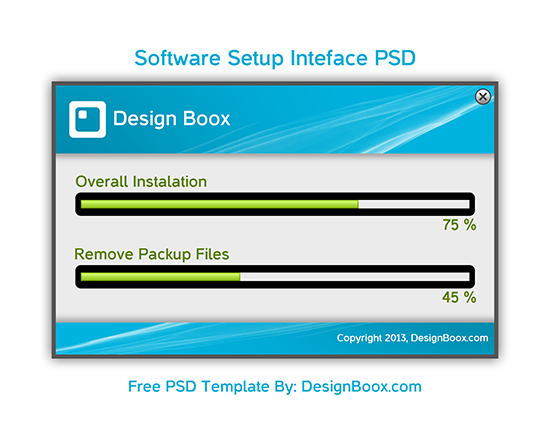 SOFTWARE SETUP INTERFACE PSD FREE DOWNLOAD designboox