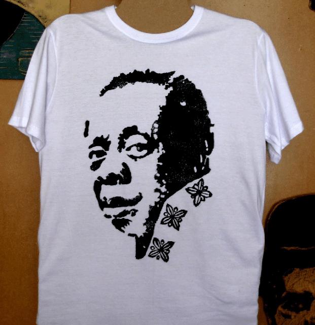 "Camiseta ""Grande Otelo"" com estampa em Xilogravura"