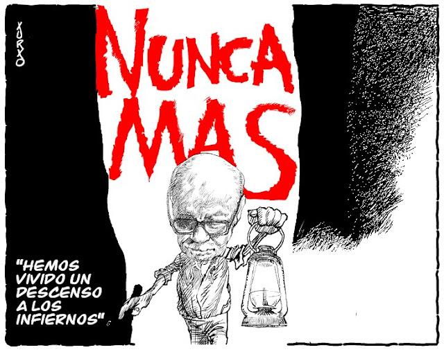 El escritor argentino Ernesto Sábato iluminando la oscuridad