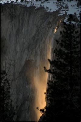 La Cascada de Fuego en California. USA. EEUU