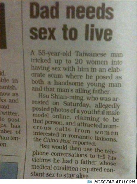 funny newspaper headlines. funny newspaper headlines. Funny Newspaper Headlines: Dad