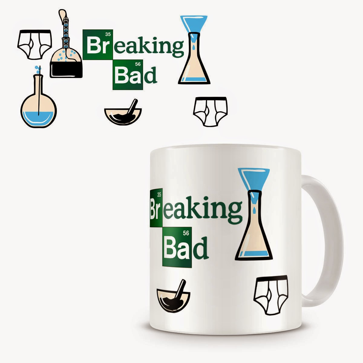 Taza Breaking Bad Instrumentos