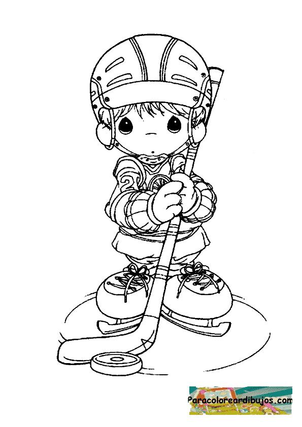 Jugador de hockey para colorear